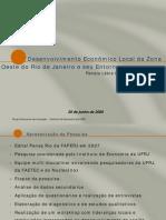 Desenvolvimento Econômico Local da Zona Oeste do Rio de Janeiro e seu Entorno