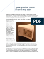 Que Es, Para Que Sirve y Como Construir Un Flip Book