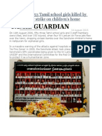 14 Aug 2006 53 Tamil School Girls Killed by Sri Lankan Air Strike on Children's Home