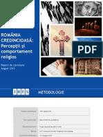 IRES_Romania Credincioasa_Perceptii Si Comportament Religios_august 2015