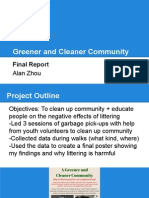 greener and cleaner community final report