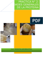 Propiedades Generales de La Proteína