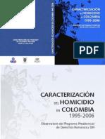 Caracterización del homicidio en Colombia
