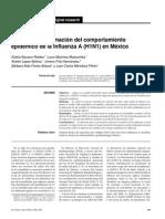 Modelo para estimación del comportamiento epidémico de la influenza A (H1N1) en México