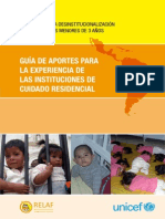 GUÍA DE APORTES PARA LA EXPERIENCIA DE LAS INGUÍA DE APORTE DE LA EXPERIENCIA PARA INSTITUCIONES DE CUIDADO RESIDENCIAL