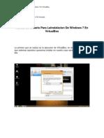 Manual de Instalacion de Windows en VirtualBox