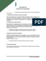 Instructivo de Donaciones ELECCIONES 2015