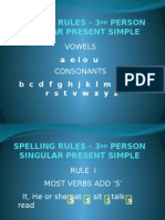 Spelling Rules – 3rd Person Present Simple
