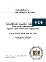 Fiscal Year 2014 Local Tax Collections and Debt Service Management Agreed-Upon Procedures Report