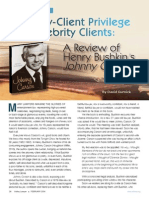 Attorney-Client Privilege and Celebrity Clients