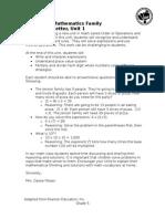 5th grade unit 1 parent letter