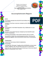 Accomplishment Report