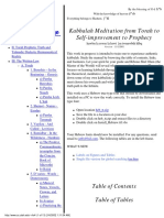 Kabbaklah Meditation From Torah to Selfimprovement