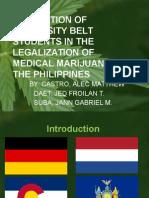 Legalization of Medical Marijuana in the Philippines