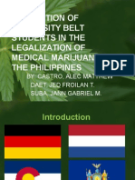 Legalization of Medical Marijuana in the Philippines