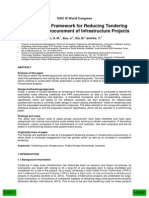 A Theoretical Framework for Reducing Tendering Costs in the Procurement of Infrastructure Projects—2014