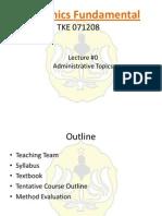 TKE 071208 Week 1 Administrative Topics