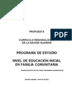 Curriculo Regionalizado-Nación Guaraní
