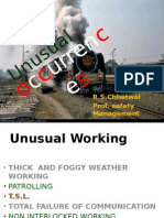 Unusual Occurrences by PSM