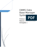 DBMS Data Base Manager System