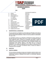 Syllabus de contaminacion ambiental