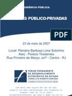 Parcerias Público Privada -2007