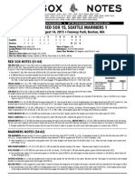 Post-Game Notes 814 vs. SEA