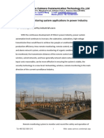 Wireless Monitoring System Applications in Power Industry