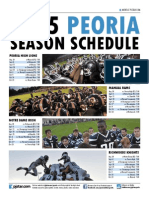2015 Peoria football schedules