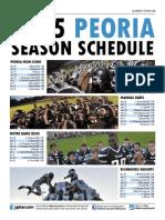 2015 Peoria football schedules