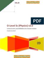O Level Physics Quick Revision