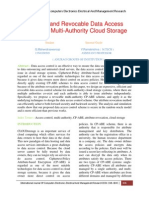Efficient and Revocable Data Access Control for Multi-Authority Cloud Storage