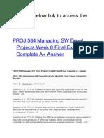 PROJ 584 Managing SW Devel Projects Week 8 Final Exam