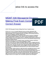 MGMT 530 Managerial Decision-Making Final Exam