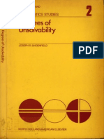 Degrees Of Unsolvability - Joseph Shoenfield