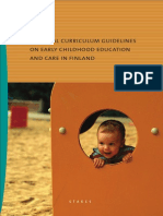 National Curiculum Guidelines on Early Childhood Education in Finland