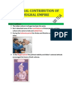 Cultural Contribution of Mughal Empire