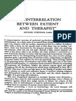 The Interrelation Between Patient and Therapist