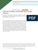 External Stimulation-controllable Heat-storage Ceramics_ti3o5 Phases