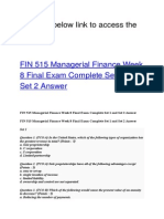 FIN 515 Managerial Finance Week 8 Final Exam