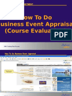 How to Do Business Event Appraisal