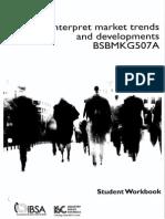 Interpret market trends and developments bsbmkg507a