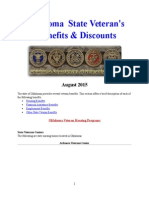 Vet State Benefits & Discounts - OK 2015