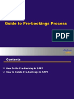 Prebooking Guide