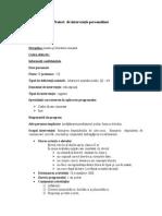 Proiect de Interventie Personalizat - Model