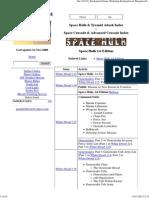 Space Hulk & Space Crusade Index