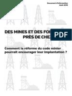 Réforme Code Minier - Document d'Information - Août 2015