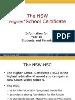 Hsc Info Yr10 Students Parents