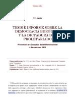 V. I. Lenin (1919)_ Tesis e Informe Al I Congreso de La III Internacional
