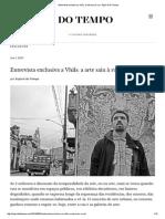 1.6.2013 Entrevista Exclusiva a Vhils_ a Arte Saiu à Rua - Espiral Do Tempo